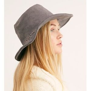 New Free People gray Tennessee Suede Bucket Hat
